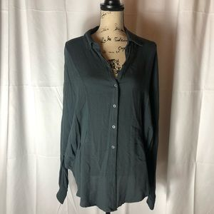 Free people long sleeve button up tunic size med